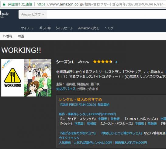 Amazon プライムビデオ WORKING!!