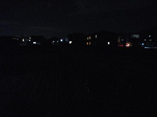 真っ暗闇を撮影