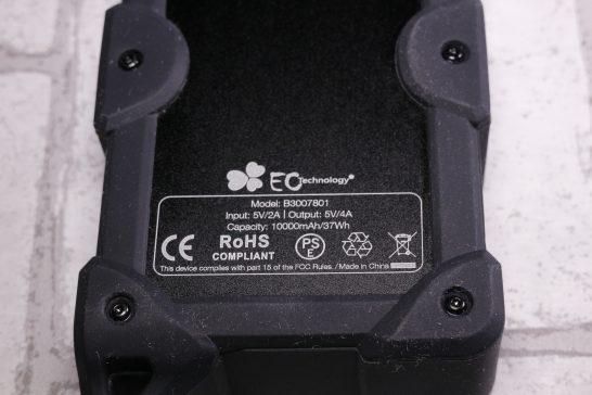 バッテリーのスペックが印字されています。